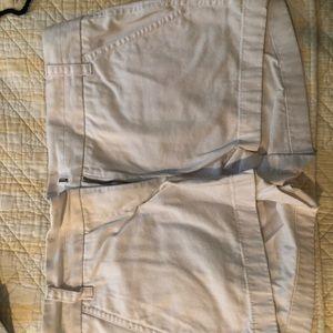 White J Crew shorts